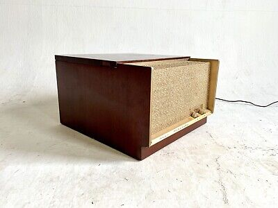 £507.27 • Buy Vintage MidCentury Portable Table Crescent High Fidelity Record Player Wood Case