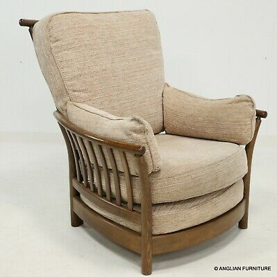 Ercol Renaissance High Back Armchair Golden Dawn Finish FREE Nationwide Delivery • 457£