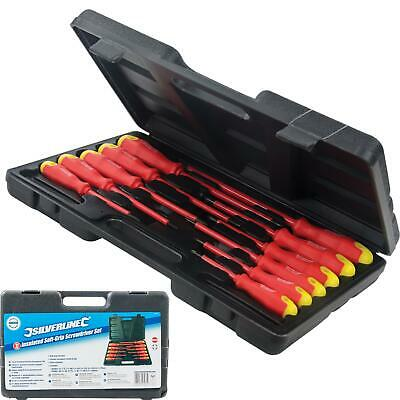 Silverline 11pc Insulated Magnetic Soft Grip Screwdriver Phillips Flat Set • 11.29£