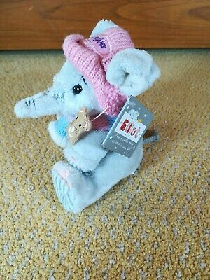 Elliot And Buttons Elephant Soft Plush Toy Daughter In Winter Beanie 5  5inch  • 10£