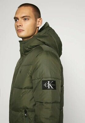 RRP £250 Calvin Klein Puffer Jacket Mens Size XL New Down Green CK EA7 Boss Y3 • 139.99£