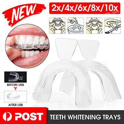 AU4.95 • Buy Teeth Whitening Mouth Trays Custom Self Mould Thermo Plastic Ultra Clear Guards