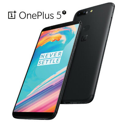 AU494.35 • Buy OnePlus 5T 6.0  6GB/128GB Black Dual 20MP Octa Core Android Phone By Fed-ex
