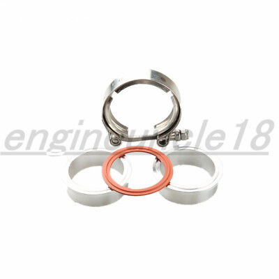 AU21.73 • Buy 2.5'' Inch Turbo Stainless Steel V-Band Clamp+Aluminum Flanges With O Ring