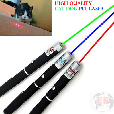 Laser Teaser Pen Cat Dog Kitten Pointer Play Toy Projecting Flash Fun Exercise • 3.85£