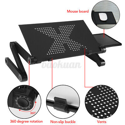 AU21.14 • Buy Portable Foldable Laptop Stand Desk Table Tray Adjustable Sofa Bed Mouse Pad AU