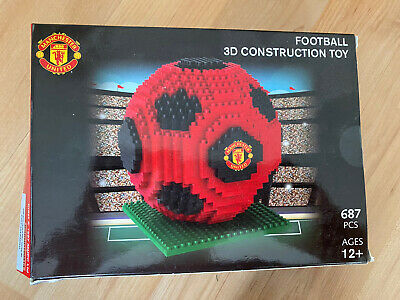 Manchester United 3D Football, BRXLZ, Collectors Piece, 687 Pieces, 12yrs, Lego • 24£