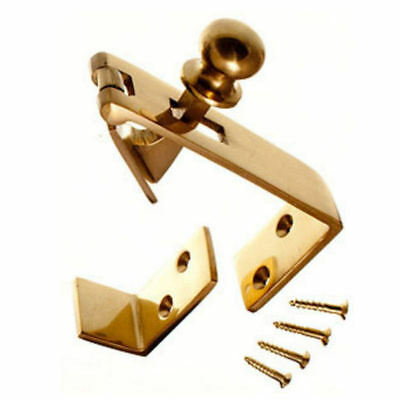 Counter Flap Catch Solid Polished Brass Bar Shop Pub Counterflap + Stay & Screws • 7.95£
