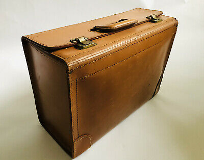 $190 • Buy Vintage Chas W. Wolf New York Inc Leather Custom Case Doctor Bag Pilot Briefcase