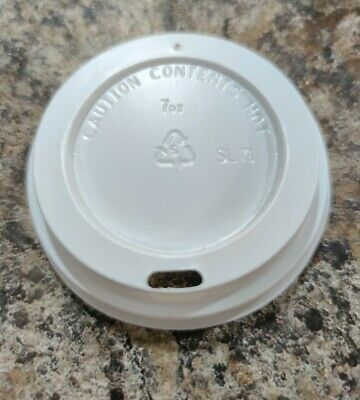 7oz Vented Plastic Lids To Fit Polystyrene Cups X 1000  • 20£