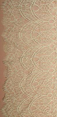 £28.99 • Buy French Chantilly Lace Scallop, Cotton 93cm Dark Ivory Solstiss 607M10 BRIDAL