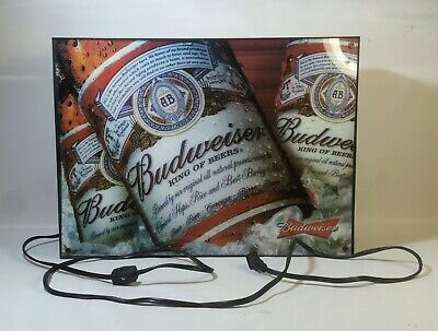 $ CDN58.79 • Buy 2008 Budweiser Lighted Beer Sign 18x14 Ice Cold Glass Bottle Works Breweriana