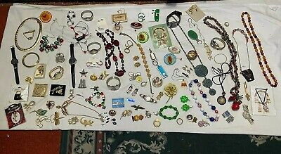 $ CDN10.46 • Buy HUGE JUMBO LOT Vintage Jewelry Trinket Boxes Brooches Watches Necklaces LOOK NR