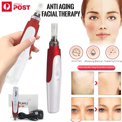 AU47.59 • Buy Dr Pen Electric Derma Pen Roller MicroNeedle Skin Care With 2* 12 36 42 Needles