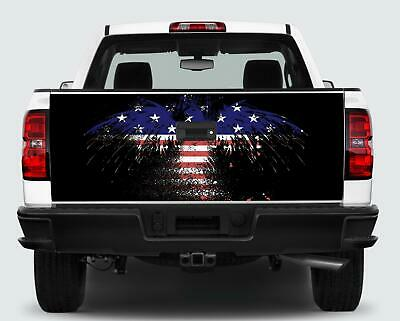 Red White Blue Eagle Flag Tailgate Wrap Vinyl Graphic Decal Sticker Wrap Car • 31.71£