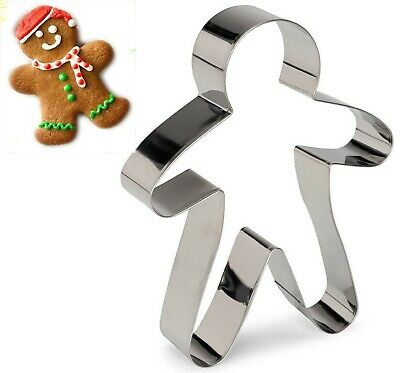£3.99 • Buy Gingerbread Man Christmas Cookie Cutter Biscuit Pastry Fondant Metal 18cm Mould