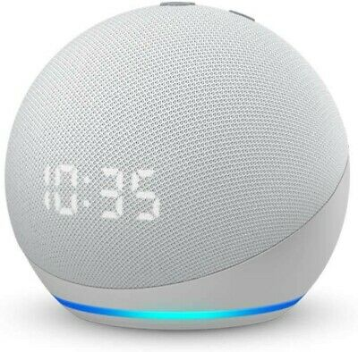 AU129 • Buy Echo Dot 4th Gen | Smart Speaker With Clock And Alexa | Glacier White
