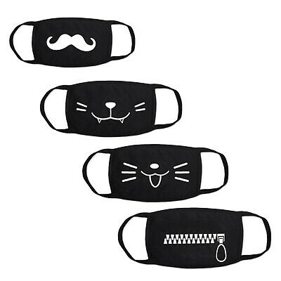 Emoji Cotton Mouth Face Cover Respirator Cycling Anti-Dust Anime Outdoor UK Bear • 3.99£