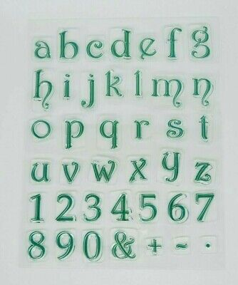 Lowercase Alphabet, Numbers + More Clear Acrylic Stamps *UK Seller Fast Post* 0Z • 4.50£