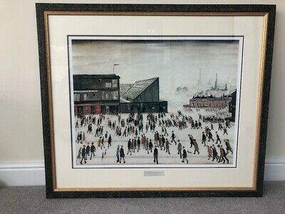 L.S. Lowry  - Framed Print 'Going To The Match' • 30£