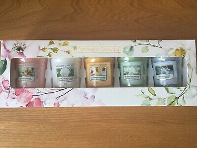 💕🌸New & Boxed- Yankee Candle Garden Hideaway 5 Votive Candle Gift Set 🌸💕 • 7.50£