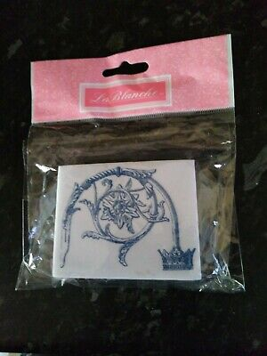 La Blanche   Foam Stamp 8cm X 6cm - NEW  • 1.50£