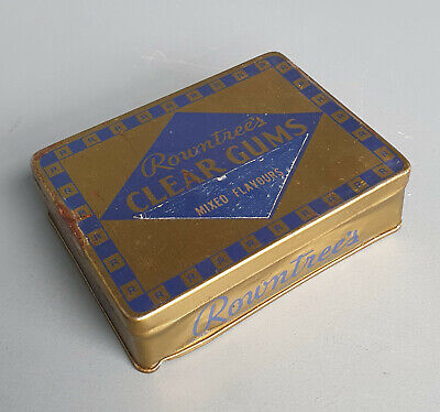 £3.95 • Buy Vintage Rowntree's Clear Gums Tin - Rare Collectable Confectionary Old (T15)