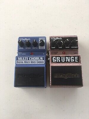 $ CDN156.65 • Buy Digitech Grunge Distortion + Multi Voice Chorus Guitar Effect Pedal Lot Of 2