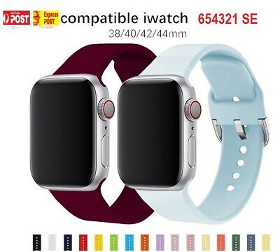 AU5.95 • Buy Sport Silicone Strap Band For Apple Watch Series SE 6 5 4 3 2 1 38 40 42 44mm