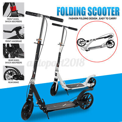AU93.99 • Buy Folding Scooter Hand Disc Brake Large Wheels Dual Supension Adult /Child