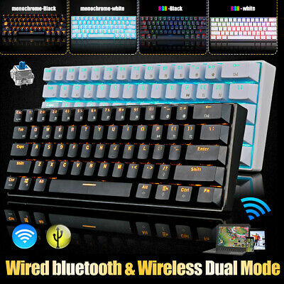 AU71.59 • Buy RK61 Bluetooth USB Ergonomic Keypad Backlight RGB Mechanical PC Gaming