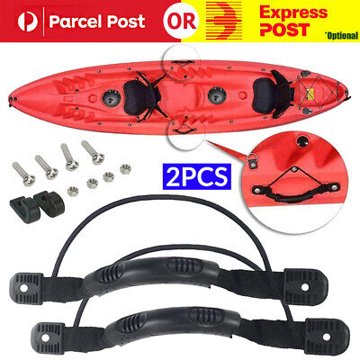 AU15.58 • Buy DIY 2PCS Kayak Canoe Boat Side Mount Carry Handle With Bungee Cord Accessories