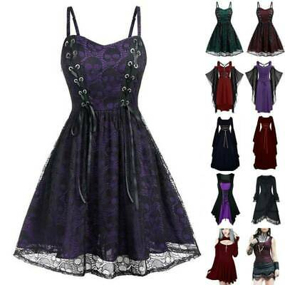 AU23.69 • Buy Womens Retro Medieval Renaissance Gothic Dresses Costume Carnival Fancy Dress Up