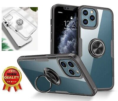 AU5.85 • Buy For IPhone 11 12 Pro Max Mini Clear Back Case With Ring Stand Shockproof Gift