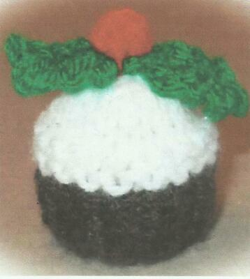 Hand Knitted Christmas Pudding Ferrero Rocher Chocolate  Cover   • 2.25£