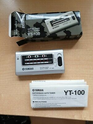 Yamaha Guitar/Bass Auto Tuner YT-100. Acoustic Or Electric Guitars. Never Used. • 15£