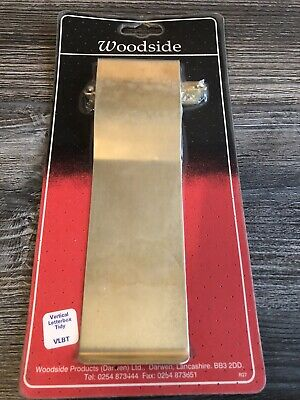 Vertical Brass Letterbox Tidy External Seal Flap Cover -New • 4.99£