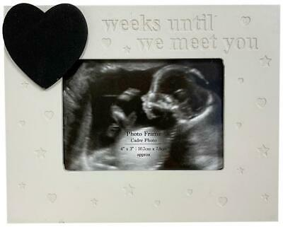 Wooden Natural Baby Scan Ultrasound Photo Picture Frame Plaque Baby Shower Gift • 6.99£