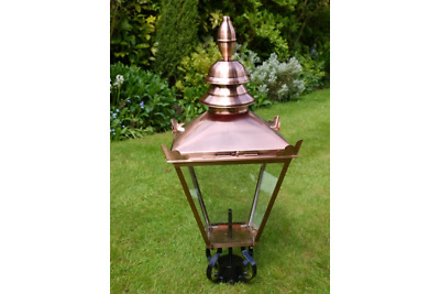 Copper Victorian Style Traditional Style Post Lantern Garden Street Light 88cm • 179.99£