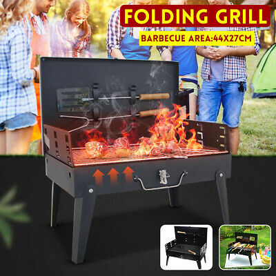 $ CDN40.44 • Buy Portable Folding Steel BBQ Grill Charcoal Barbecue Outdoor Camping Party US