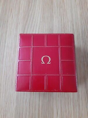 GENUINE VINTAGE OMEGA RED LEATHER  SEAMASTER WATCH BOX 1950s/60s (NORESERVE) • 39.95£