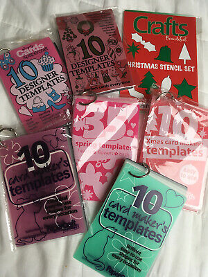 Papercraft Inspirations Card Makers Templates Stencils X 6 Packs Christmas Cards • 0.99£