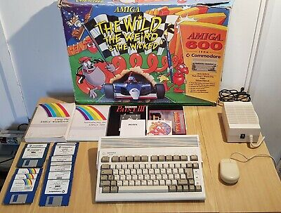 Commodore Amiga 600 Wild Weird Wicked VGC! Boxed Tested & Working Sealed Unit • 249.99£