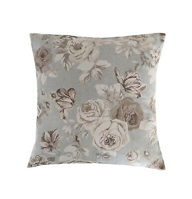 £8.75 • Buy Cushion Cover In Clarke And Clarke Genevieve Roses Blue Grey 14  16  18  20