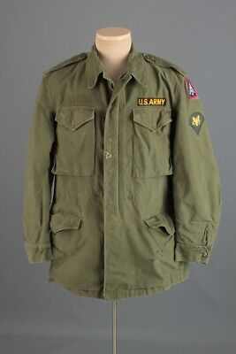 $99 • Buy Vtg Men's 1957 US Army M-51 Field Jacket W 5th Army Patch Small Long 50s Vtg