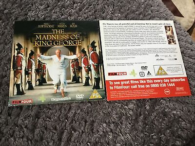 THE MADNESS OF KING GEORGE DVD HELEN MIRREN RUPERT EVERETT Classic Movie • 1.70£