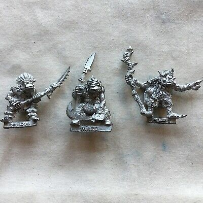 Orc Champion 3 Citadel Lead Miniatures Games Workshop Unpainted OOP Lot 2 Of 2 • 18£