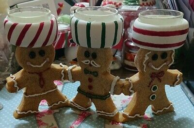 Yankee Candle Christmas Gingerbread Man Triple Tealight Holder • 14£