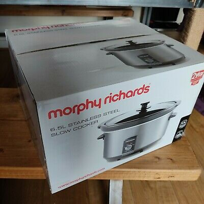 Morphy Richards 48718 Slow Cooker - Stainless Steel 6.5l Big Family Version. New • 23£