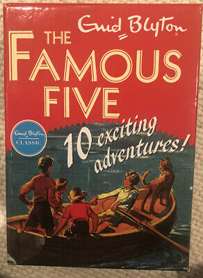 Enid Blyton 'The Famous Five: 10 Exciting Adventures!' 10 Paperback Book Box Set • 3.50£